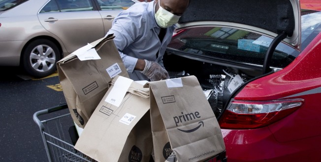 Whole Foods Market grocery deliveries with Amazon Prime during the coronavirus COVID-19 pandemic