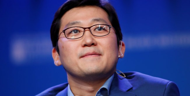 Bom Kim Founder and CEO, Coupang speaks during the Milken Institute's 22nd annual Global Conference in Beverly Hills, California